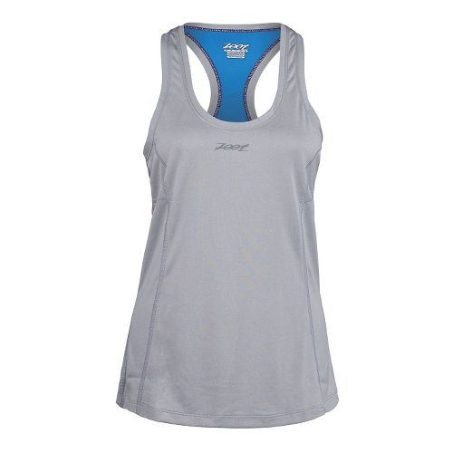 Womens Zoot Run Sunset Singlet Tank Technical Tops - Silver Strand/Heather L