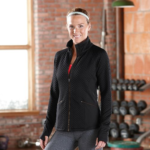 Womens Road Runner Sports Smooth Transition Quilted Outerwear Jackets - Black L