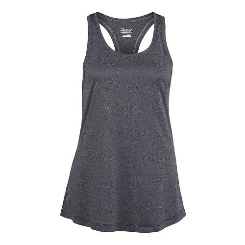 Womens Zoot Run Sunset Tank Technical Tops - Black Heather/Black M