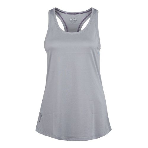 Womens Zoot Run Sunset Tank Technical Tops - Silver Strand/Heather L