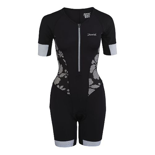 Womens Zoot Ultra Tri Aero Skinsuit Triathlete UniSuits - Black Island L