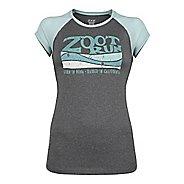 Womens Zoot Run Sunset Graphic Tee Short Sleeve Technical Tops