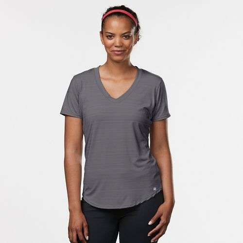 Womens R-Gear Finish First Short Sleeve Technical Tops - Grey Mist XS