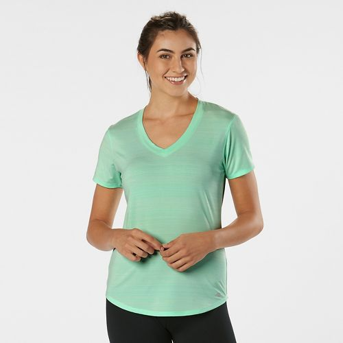 Womens R-Gear Finish First Short Sleeve Technical Tops - Sea Glass XS