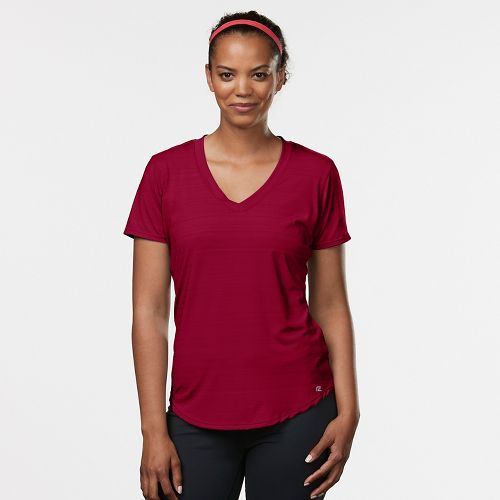 Womens Road Runner Sports Finish First Short Sleeve Technical Tops - Ruby XS
