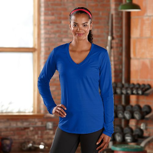 Womens R-Gear Finish First Long Sleeve No Zip Technical Tops - Sapphire S