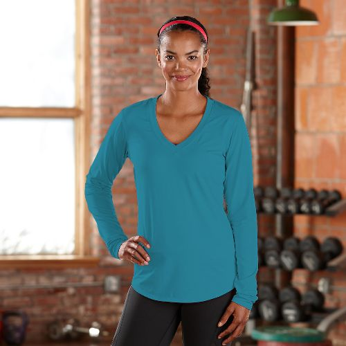 Womens R-Gear Finish First Long Sleeve No Zip Technical Tops - Laguna Blue XS