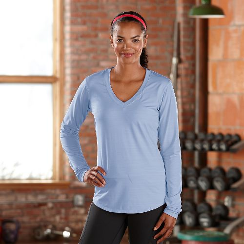 Womens R-Gear Finish First Long Sleeve No Zip Technical Tops - Skylight XS