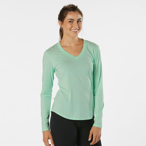 Womens R-Gear Finish First Long Sleeve No Zip Technical Tops - Sea Glass L