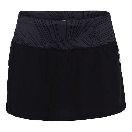 Womens Zoot Run PCH Skort Fitness Skirts - Black/Black Palm S
