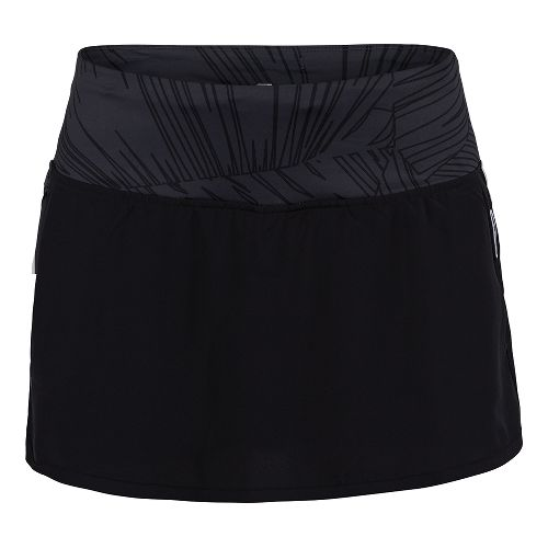 Womens Zoot Run PCH Skort Fitness Skirts - Black/Black Palm XS