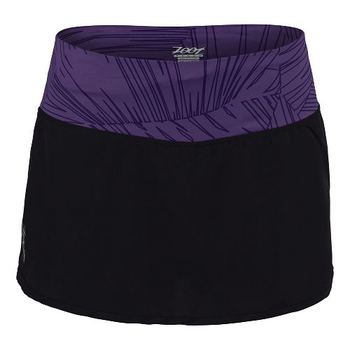 Womens Zoot Run PCH Skort Fitness Skirts - Black/Deep Purple M