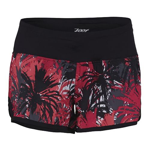 Womens Zoot Run PCH 3 Lined Shorts - Punch Camo Palm L