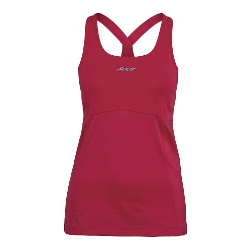 Womens Zoot Run Moonlight Racerback Bra Tank Technical Tops - Punch S