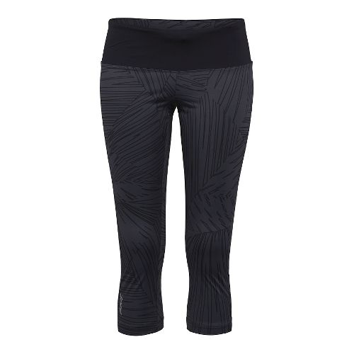 Womens Zoot Run Moonlight Capri Tights - Black/Black Palm M