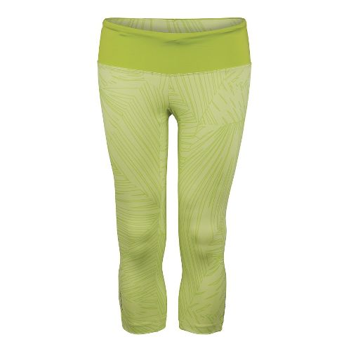 Womens Zoot Run Moonlight Capri Tights - Spring Green XS