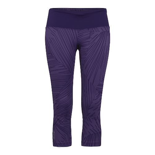 Womens Zoot Run Moonlight Capri Tights - Deep Purple XL