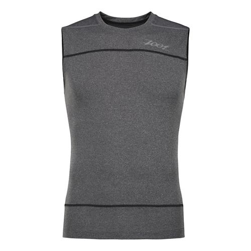 Mens Zoot Run Surfside Sleeveless Technical Tops - Black Heather/Black XL