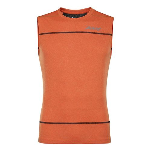 Mens Zoot Run Surfside Sleeveless Technical Tops - Solar Flare Heather XL