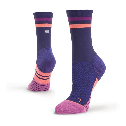 Womens Stance Dreadmill Compression Crew Socks - Purple M