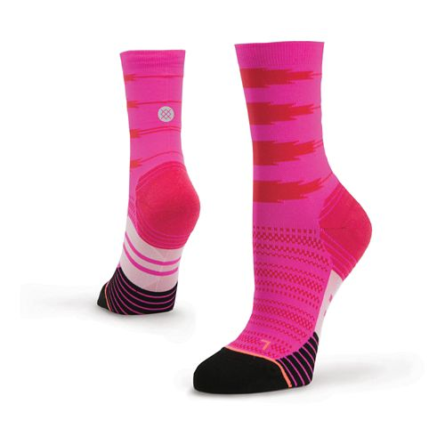 Womens Stance Heartbeat Compression Crew Socks - Pink M