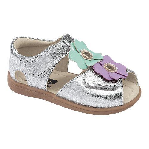 Kids See Kai Run Akira Sandals Shoe - Silver 6