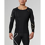 Mens 2XU Elite Compression Long Sleeve No Zip Technical Tops