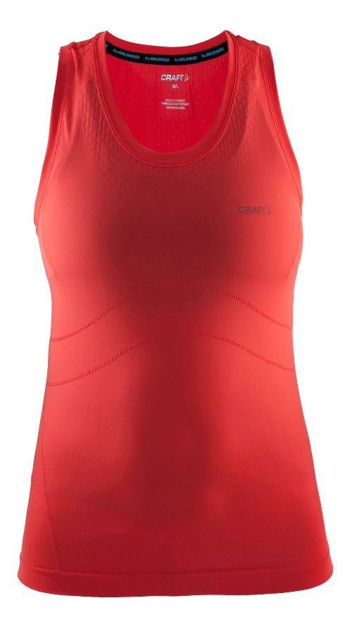 Womens Craft Cool Seamless Singlet Sleeveless & Tank Technical Tops - Tempo/Shock M/L
