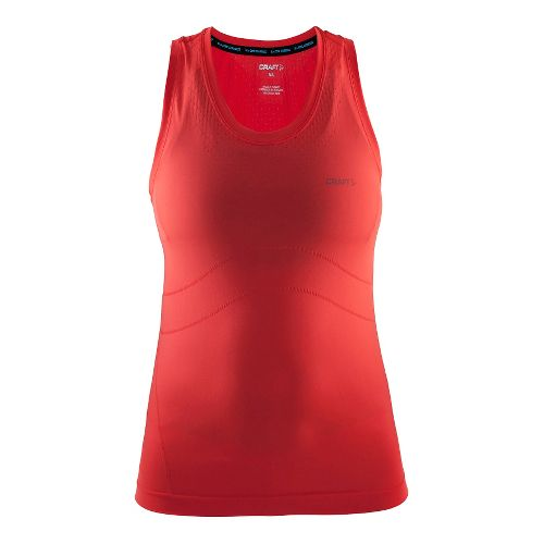 Womens Craft Cool Seamless Singlet Sleeveless & Tank Technical Tops - Tempo/Shock XS/S