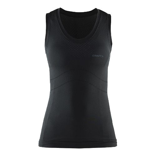 Womens Craft Cool Seamless Singlet Tank Technical Tops - Black XS/S