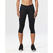 Womens 2XU Mid-Rise Compression 3/4 Capris Tights