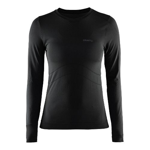 Womens Craft Cool Seamless Long Sleeve No Zip Technical Tops - Black S/M