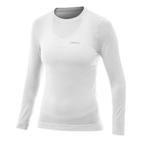 Womens Craft Cool Seamless Long Sleeve No Zip Technical Tops - White M/L