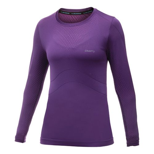 Womens Craft Cool Seamless Long Sleeve No Zip Technical Tops - Dynasty S/M