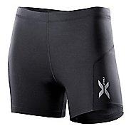 Womens 2XU Compression 1/2 Unlined Shorts - Black/Black L