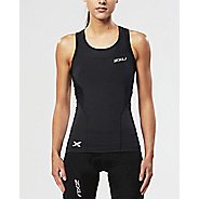 Womens 2XU Compression Sleeveless & Tank Technical Tops - Black/Black XL