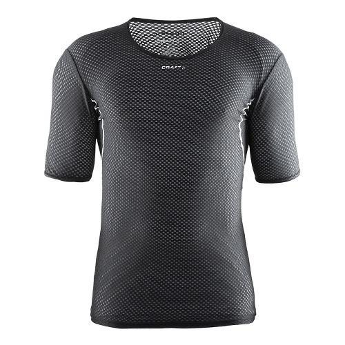 Mens Craft Cool Mesh Superlight Short Sleeve Technical Tops - Black M