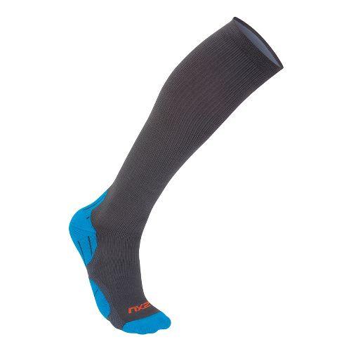Mens 2XU 24/7 Compression Sock Injury Recovery - Grey/Blue M