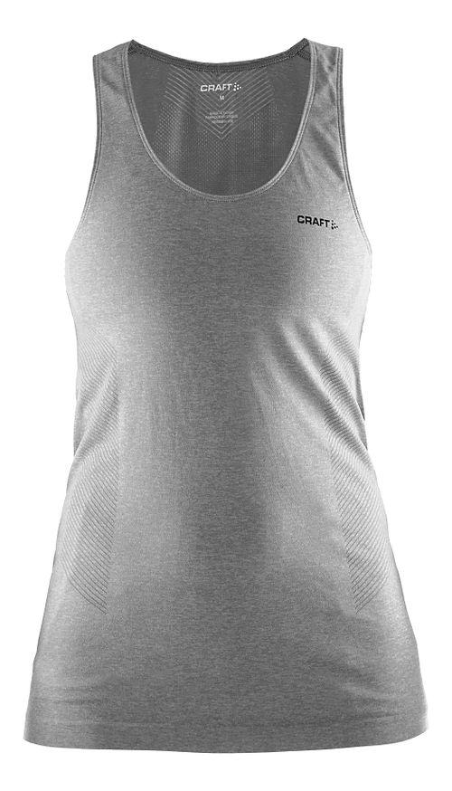 Womens Craft Seamless Touch Sleeveless & Tank Technical Tops - Grey XS/S