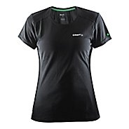 Womens Craft In The Zone T-Shirt Short Sleeve Technical Tops - Black L