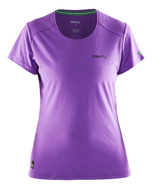 Womens Craft In The Zone T-Shirt Short Sleeve Technical Tops - Lilac L
