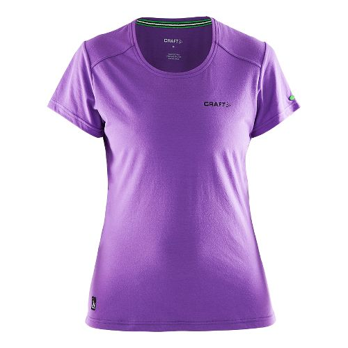 Womens Craft In The Zone T-Shirt Short Sleeve Technical Tops - Lilac M