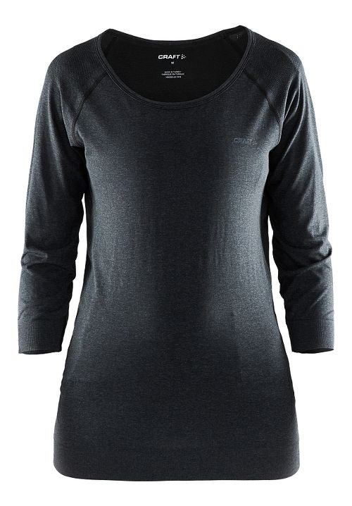 Womens Craft Cool Seamless Touch Sweatshirt Long Sleeve Technical Tops - Black S/M