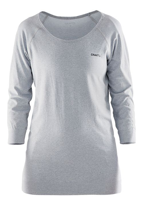 Womens Craft Cool Seamless Touch Sweatshirt Long Sleeve Technical Tops - Grey M/L