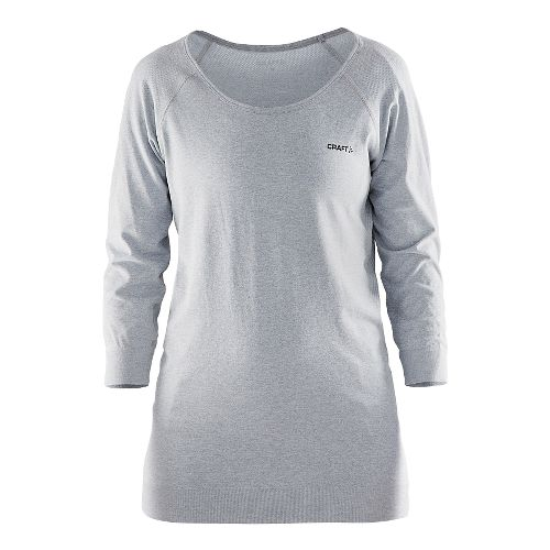 Womens Craft Cool Seamless Touch Sweatshirt Long Sleeve Technical Tops - Grey XS/S