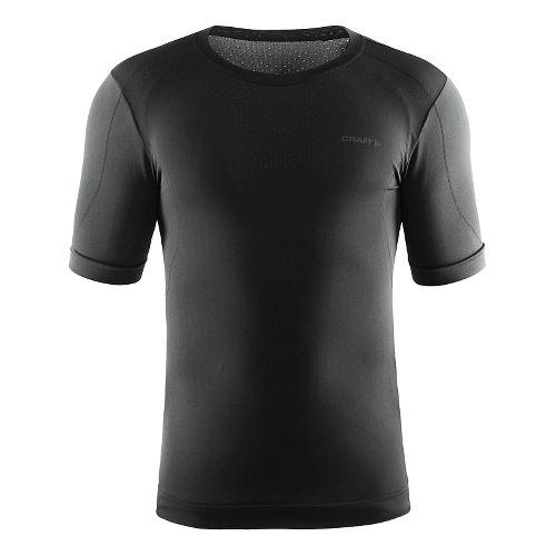 Mens Craft Cool Seamless Short Sleeve Technical Tops - Black XL/XXL