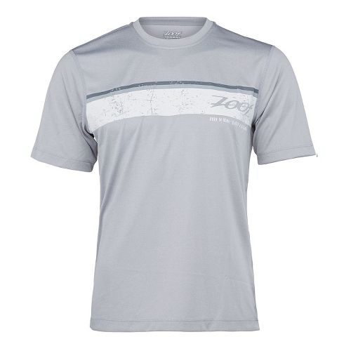 Mens Zoot Run Surfside Graphic Tee Short Sleeve Technical Tops - Silver Strand M