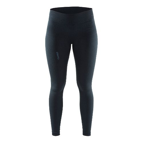 Womens Craft Cool Seamless Full Length Tights - Black XS/S