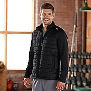 Mens Road Runner Sports Polar Defense Quilted Outerwear Jackets - Black XL