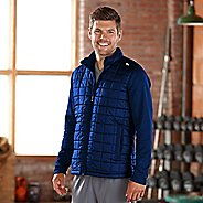 Mens Road Runner Sports Polar Defense Quilted Outerwear Jackets - Midnight Blue XL